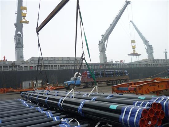 loading of seamless steel pipe