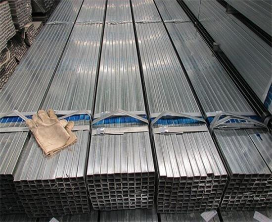 galvanised square tube storage